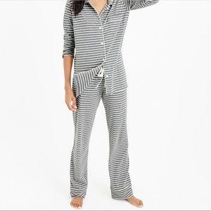 J. Crew dreamy cotton pajama pants in gray stripe